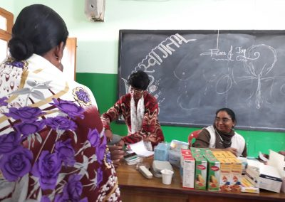 SR DR ALPHY CONDUCTING THE MEDICAL CAMP ON GIRL CHILD HEALTH2