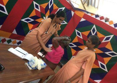 Sr. Dr. Placida FMM - Cancer Screening Camp - Tamil Nadu