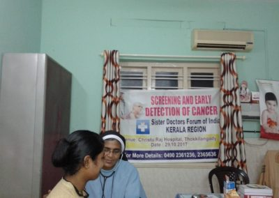 Sr. Dr. Tessy 3 Cancer Screeing Program - Kerala Region