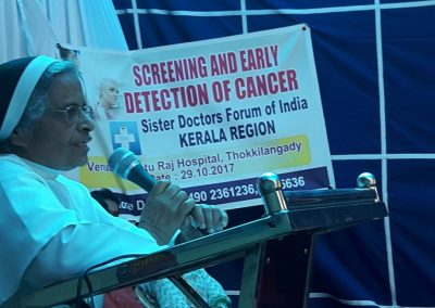 Sr. Dr. Betty Jose - Cancer Awareness Program - Kerala