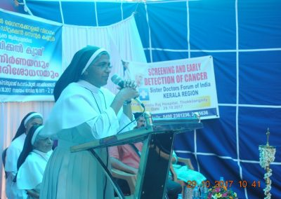 Sr. Dr. Tessy 2 - Cancer Awareness Program - Kerala